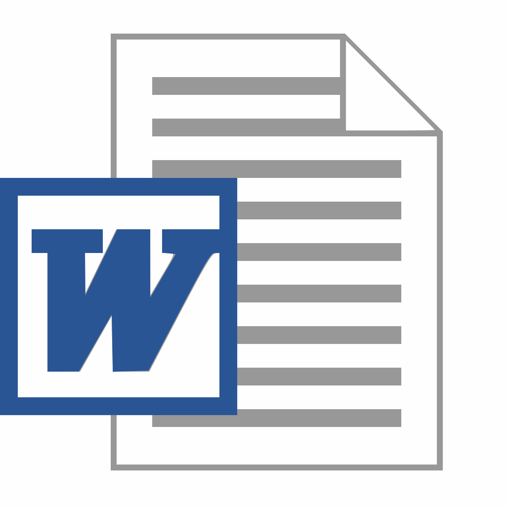 Word document symbol